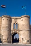 Saladin Citadel. Gate and fort at Saladin Citadel of Cairo, Egypt Royalty Free Stock Image