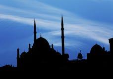 Saladin Citadel i Kairo i mörk skugga royaltyfria bilder