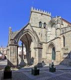 Salado Monument (Padrao do Salado) and Nossa Senhora da Oliveira Church in Oliveira Square. royalty free stock images