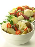 Salads. Two vegetable salads on isolated white background Royalty Free Stock Photo
