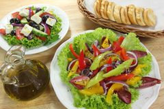 Salads Royalty Free Stock Photos