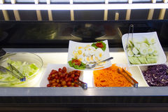 Salads bar for breakfast. At home Stock Images