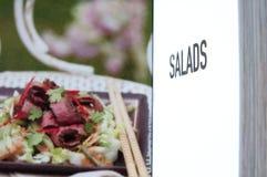 Salads book Royalty Free Stock Image