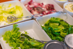Salads on buffet table at restaurant . Stock Photography