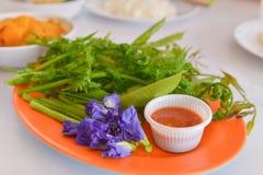 Salads, chili paste Royalty Free Stock Photography