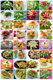 Salads collage Royalty Free Stock Image