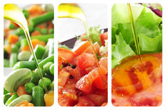 Salads collage Stock Images