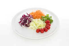 Salads food in white plate Stock Images