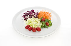 Salads food in white plate Stock Photo