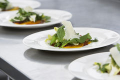 Salads With Grated Cheese Stock Photography