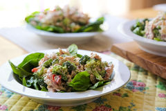 Salads for lunch Royalty Free Stock Images