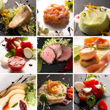 Salads and main courses Stock Photo