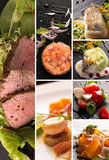 Salads and main courses Royalty Free Stock Photography