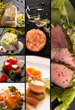 Salads and main courses Royalty Free Stock Photos
