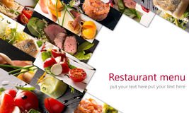 Salads and main courses Royalty Free Stock Images