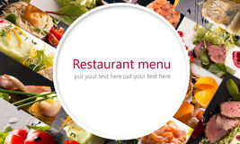 Salads and main courses Stock Photography