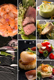 Salads and main courses Stock Images