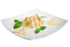 Salads on white background Royalty Free Stock Photo