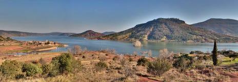 Salagou lake - Herault - Occitania France. View of the Salagou lake - Herault - Occitania France royalty free stock photos