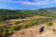 Salagou landscape near the lake in France Stock Images