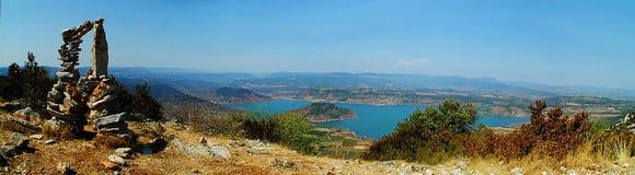 salagou panoramiczny widok Zdjęcia Royalty Free