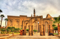 Salah ed Din Street: passage between Al Rifai Mosque and Sultan Royalty Free Stock Image