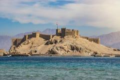 Salah El Din Castle på den Farun ön fotografering för bildbyråer