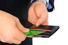 Salaire avec par la carte de crédit Photos libres de droits