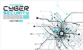 Salaire fantastique de cyber de Cyberpunk de fond d'absract de circuits de pointe Photo libre de droits