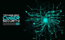 Salaire fantastique de cyber de Cyberpunk de fond d'absract de circuits de pointe Photographie stock libre de droits