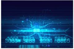 Salaire fantastique de cyber de Cyberpunk de fond d'absract de circuits de pointe Photographie stock