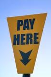 Salaire ici Photo libre de droits
