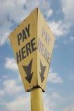 Salaire ici ! Images libres de droits