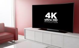 salaire incurvé de télévision par vue Photo stock