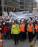 Salaire juste mars de police Photo libre de droits