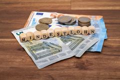 Salaire minimum Mindestlohn allemand image stock