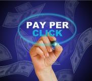 Salaire par cliquetis Photo libre de droits