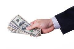Salaire par l'argent comptant Photo libre de droits