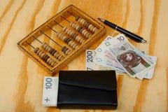 Salaire polonais d'argent Image libre de droits