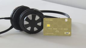 Salaire pour des albums de musique en ligne images stock