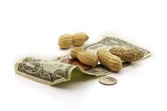 Salaires d'arachide Image libre de droits