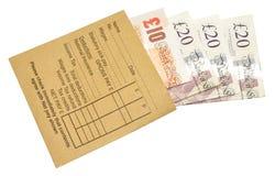 Salaires de jour de salaire Image stock