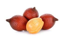 Salak fruit, Salacca zalacca isolated on the white background Stock Images