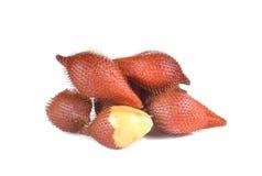 Salak fruit, Salacca zalacca isolated on white background Royalty Free Stock Photos
