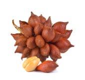 Salak fruit, Salacca zalacca  on white background Royalty Free Stock Images
