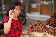 Salak fruit seller Royalty Free Stock Photo