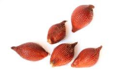 Salak frukt, salaccazalacca som isoleras p? vit bakgrund fotografering för bildbyråer