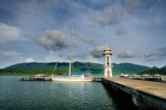 Salak Phet Pier on Koh Chang island, Thailand. royalty free stock image