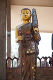 Salaloi thaïlandais de wat de temple photographie stock