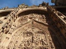 salamanca Испания красивая работа детали на стене собора стоковая фотография